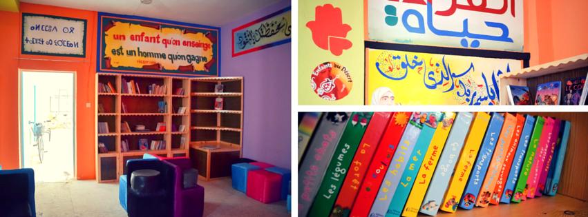 Bibliothèque sans frontières Enfants du désert Maroc